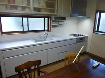 キッチンの細かい施工も、しっかり行っていただけました。