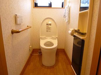 蓋部分がオートで開閉し、手洗いも楽で使いやすいトイレになり嬉しいです。