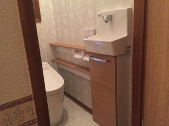 ワンデーリモデルで手洗付のトイレができました。