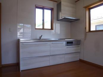 2階にキッチンと洗面化粧台を新設リフォーム。